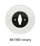 Retro vypínače a zásuvky