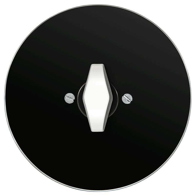 vypínač retro sklo černé