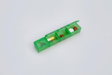 dávkovač zelený tablety
