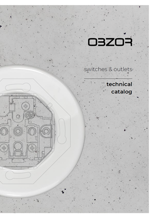Technical catalog OBZOR Home switches and outlets 2020