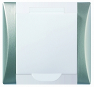 Розетка для пылесоса - дизайн Elegant metallic - белая