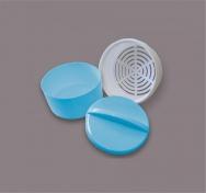 Krabička na protézy a rovnátka (modrá/bílá)