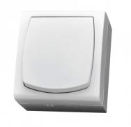 Komplet MADERA bílý - vypínač řazení 1 IP44, 16 AX