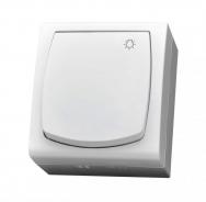 Komplet MADERA bílý - vypínač řazení 1/0 IP44, 16 AX (světlo)