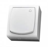 Komplet MADERA bílý - vypínač řazení 1/0 IP44, 16 AX (zvonek)