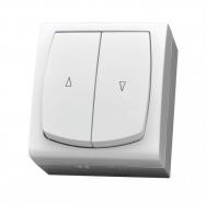 Komplet MADERA bílý - vypínač žaluziový IP44, 10 AX