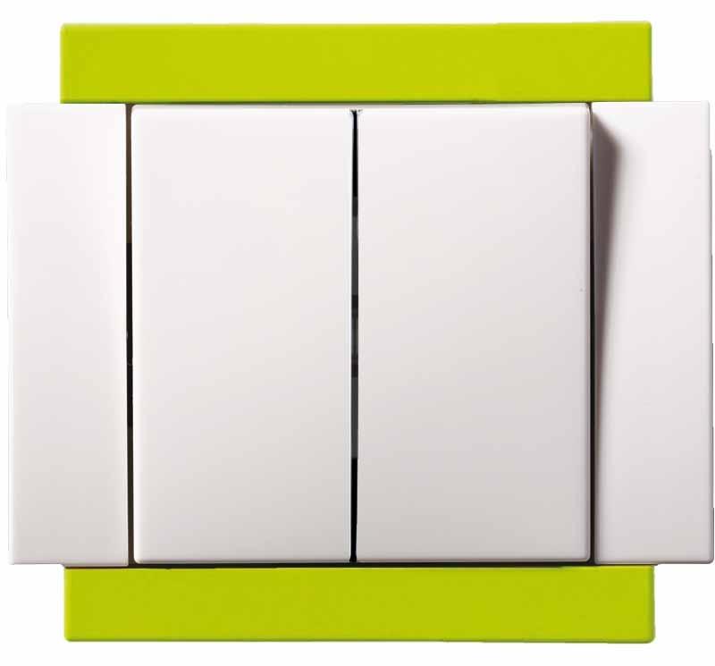 Schalter Anordnung 1/0 + 1 (Taste und Schalter einpolig) KOMPLETT ...