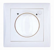 Set ELEGANT - insert switch for a louver controller, rotary (with locking), (classic)