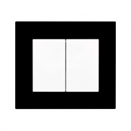 Komplet DECENTE plexi - vypínač řaz. 6+6 (6+1)(střídavý dvojitý)