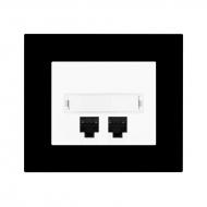 Розетка коммуникационная для ПК Cat.5e KOMPLET plexi DECENTE