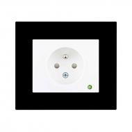 Zásuvka jednonásobná s dětskou a přepěťovou ochranou - světelná signalizace Komplet_plexi_DECENTE