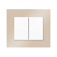 Komplet DECENTE sklo - vypínač řazení 6+6 (6+1) (střídavý dvojitý)