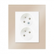 Set DECENTE glass - double outlet with child protection