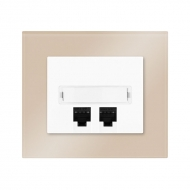 Set DECENTE glass - communication socket, Cat. 6