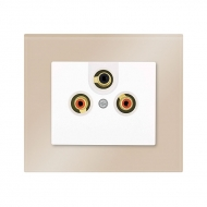 Set DECENTE glass - AUDIO-VIDEO socket, stereo