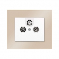 Set DECENTE glass - socket TV + R + SAT  (1dB)