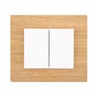 Komplet DECENTE dřevo - vypínač řazení 6+6 (6+1)(střídavý dvojitý)