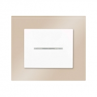 Set DECENTE glass - insert switch, arrangement 1/0