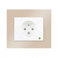 Set DECENTE glass - single outlet with child protection and overvotage protection (light indication)
