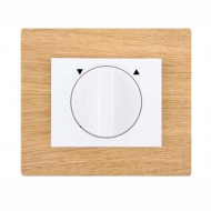 Set DECENTE wood - insert switch for a louver controller, rotary (with locking)