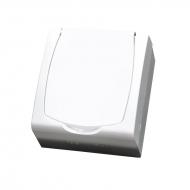 Komplet MADERA bílý - zásuvka jednonásobná s bílým víčkem a dětskou ochranou IP44, 16 A