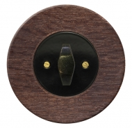 Komplet RETRO dřevo dub tmavý (mořený) - spínač řazení 6