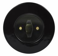 Set RETRO ceramic/black - switch arragement 1/0