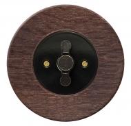 Komplet RETRO dřevo dub tmavý (mořený) - spínač řazení 1/0