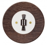 Set RETRO wood/dark oak - insert switch for a louver controller