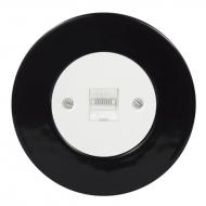 Komplet RETRO keramika černá - PC cat.5e