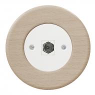 Komplet RETRO dřevo buk - zásuvka TV