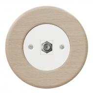 Komplet RETRO dřevo buk - zásuvka SAT