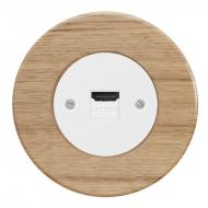 Komplet RETRO dřevo dub světlý - zásuvka HDMI