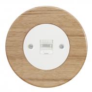 Komplet RETRO dřevo dub světlý - zásuvka PC cat.5e
