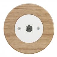 Komplet RETRO dřevo dub světlý - zásuvka TV