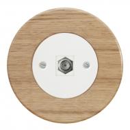 Komplet RETRO dřevo dub světlý - zásuvka SAT