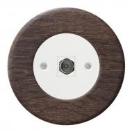 Komplet RETRO dřevo dub tmavý - zásuvka TV