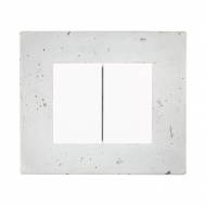 Set DECENTE concrete - insert switch, arrangement 6+6 (6+1)