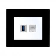 Komplet DECENTE plexi - zásuvka USB, PC