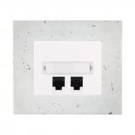 Komplet DECENTE beton - zásuvka komunikační PC Cat. 6