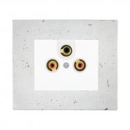 Komplet DECENTE beton - zásuvka AUDIO-VIDEO (stereo)