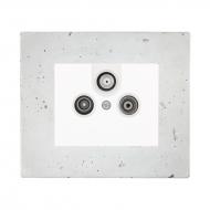 Komplet DECENTE beton - zásuvka TV + R + SAT, průběžná