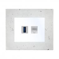 Komplet DECENTE beton - zásuvka USB, PC