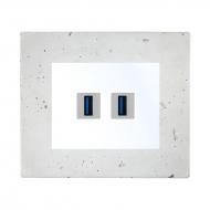 Komplet DECENTE beton - zásuvka 2 x USB s nabíječkou