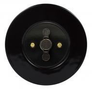 Set RETRO ceramic black - 3 gang 1 way switch
