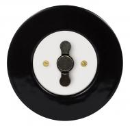 Set RETRO ceramic/black - insert switch for a louver controller