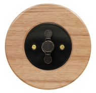 Set RETRO wood/oak - insert switch for a louver controller