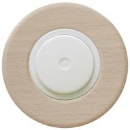 Komplet RETRO dřevo buk - stmívač otočný LED s řaz. 6