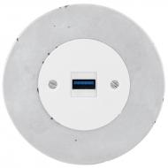 Komplet RETRO beton - zásuvka USB nabíječka