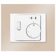 Set DECENTE glass - ROOM thermostat RTR-E 8011-50 analogue